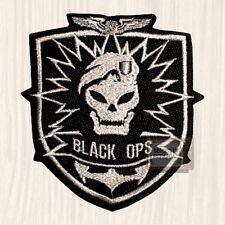 Black Ops Shield Embroidered Patch Call of Duty Modern Warfare World at War