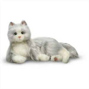 Joy for All Interactive Robotic Companion Pet For The Elderly - Silver/White Cat