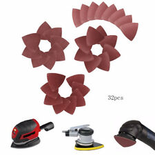 32Pcs 80mm Universal Triangular Sandpaper Sanding Pad Fit Oscillating Multi Tool