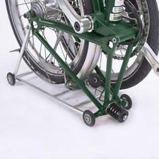 New back-carrier Brompton Folding Bike easy to push with rolling wheel blackrack