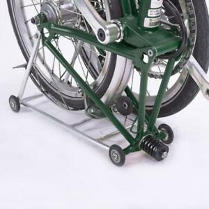 New back-carrier Brompton Folding Bike easy to push with rolling wheel silver