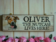 Handmade Dog House Name Decorative Plaques & Signs