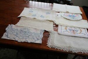 Vintage 8 Dresser Scares Embroidery Lace Crochet ++