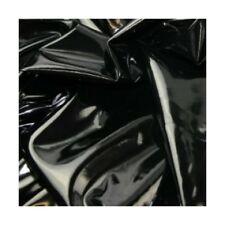 Black High Gloss Leatherlook PVC Fabric Clothing Wet Look Goth Costumes Fetish