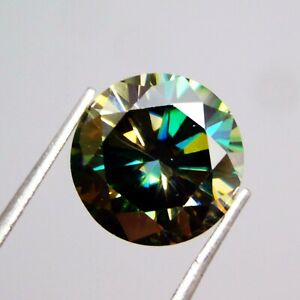 Synthetic Round 5.40 Ct Certified Moissanite Diamond Loose Gemstone