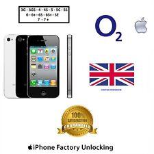 UNLOCK YOUR iPhone O2 UK Tesco 3G 4 4S 5 5C 5S 6 6+ 6S 6S+ SE 7 7+