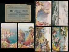 CHANNEL ISLANDS SARK BLACKS SERIES 4 PPCs SET of 6 + ENVELOPE...ARTIST WIMBUSH