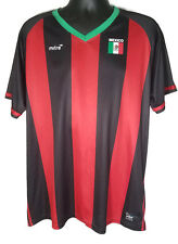 Mitre Elite Mens XL Black Red Mexico Soccer Jersey Shirt