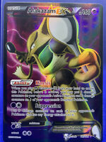 2016 Alakazam EX Full Art Holo Foil Ultra Rare Pokemon Card XY 117/124 Mint