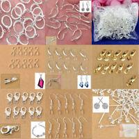 10/20pc Wholesale 925 Silver Earwire Earring Hook Connector Jewelry DIY Findings