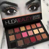 HUDA BEAUTY Textured Eye Shadow Rose Gold Edition Palette 18 Colours UK seller