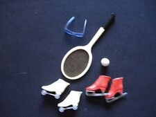 VINTAGE BARBIE 1964-65 FOR RINK & COURT PAK ACCESSORIES in Excellent Condition