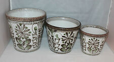 Denby - Glyn Colledge Studio Pottery - 3 x Graduated Planters - vgc