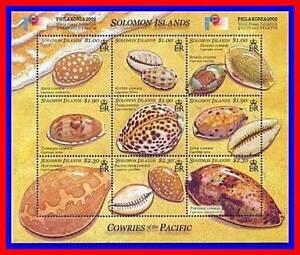 Solomon Is SOLOMONS 2002 Shells MS SC#943 MNH CV$14.00 MARINE LIFE, ANIMALS
