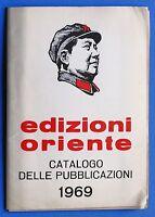 Bibliografia - Catalogo delle pubblicazioni Edizioni Oriente - 1969