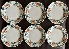 "6 Antiguo cabinas ""Floradora"" (Royal Cauldon"" Victoria"") 8"" placas de china inglés"