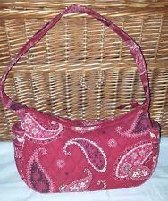 Vera Bradley Mesa Red Small Purse Tote Shoulder Bag 4 pocket handbag retired