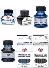 Koh-I-Noor Permanent Important Document Ink. Bottle or Cartridges Blue or Black