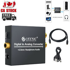 Digital to Analog Audio Converter Coaxial Optical Toslink RCA R/L 3.5mm Jack