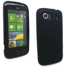 M Black Jelly Case Cover Gel Skin for HTC 7 Mozart + SP