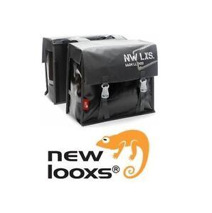 NEW LOOXS Bisonyl Basic GRAU/SCHWARZ 46 L 2-fach Packtasche Doppelpacktasche