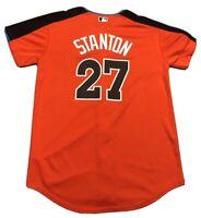 Youth Majestic Giancarlo Stanton 2017 MLB All Star Jersey Sz XL Miami Marlins NY