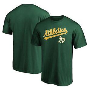 Oakland Athletics Fanatics Branded Team Logo Lockup T-Shirt - Green