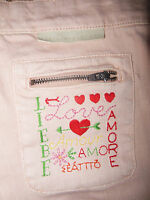 Stella McCartney girl jeans trousers  8-9-10 y BNWT designer peach pink denim