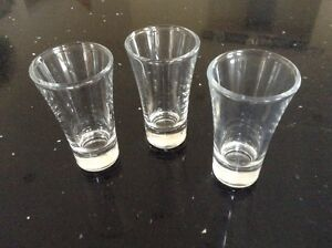 Boston Real Glass Fluted SHOT GLASS - 60ml - Buy 6 - 12 or 24 - Glasswasher Safe