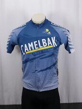 CAPO Camelbak Test Team Full-Zip Bike Cycling Jersey -Blue Gray Multi -Men's XL