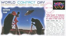 "COVERSCAPE computer designed ""World Contact Day"" 60th anniversary event cover"