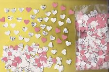 handmade confetti hearts 1oz (approx 1000 pieces) Red and vintage sheet music