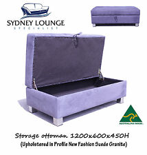 AUSTRALIAN MADE Storage ottoman 1200x600x450H Sofa Lounge Couch
