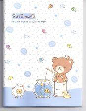 Asian Pin Bear Notebook Flat Blue