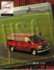 GMC Savana 1998 USA Market Sales Brochure 1500 2500 3500 SL SLE