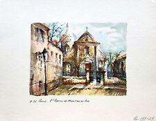 St. Pierre de Montmartre,  Paris, France, Watercolor Print