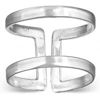 925 Sterling Silver Wide Band Ring Womens Jewelry Adjustable Size 6 7 8 9