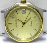 mens Carl F Bucherer Calendar Date Two Tone vintage watch parts repair only
