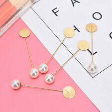 Brooches Diy Brooch Jewelry Findings P1 10Pcs Pearl Base Blank Trays Backs Pins