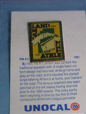 Oakland A's Athletics Unocal 76 lapel pin 1988 uniform jersey