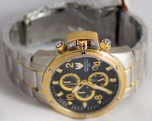 SWISS EAGLE Tramelan SE-9074-33 WATCH QUARTZ CHRONOGRAPH SILVER GOLD RRP: £680!