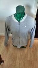 Nike Hoodie Zip Jacket Top size medium m Grey