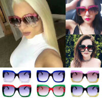 2018 Oversized Square Luxury Sunglasses Gradient Lens Vintage Women Fashion HOT