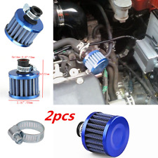 12mm 2pc Car Motor Cold Air Intake Filter Turbo Vent Crankcase Breather Titanium
