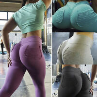 Women PUSH UP Yoga Leggings High Waist Fitness Sports Jogging Gym Stretch PantBB