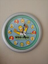 The Simpsons 2004 Homer Talking Wall Clock Works Good 20Th Century Fox