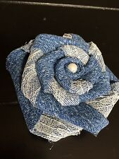 Denim Lace Flower Burlap Back Country Western Outdoor Wedding Table Decor Rustic