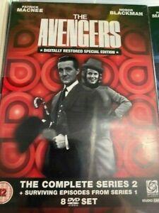 THE AVENGERS complete series 2 + surviving series 1  episodes box set