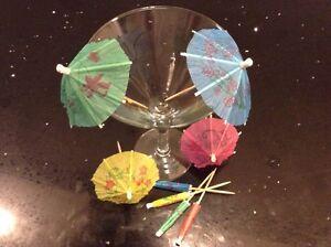 24 x Cocktail Umbrella - Hawaiian Drinks Party Parasol - FREE P&P - UK SELLER