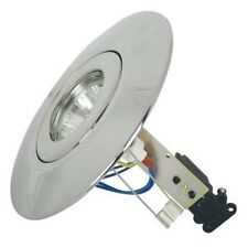 Polished Chrome Converter Downlight Mains GU10 or 12 Volt Low Voltage MR16 KIT